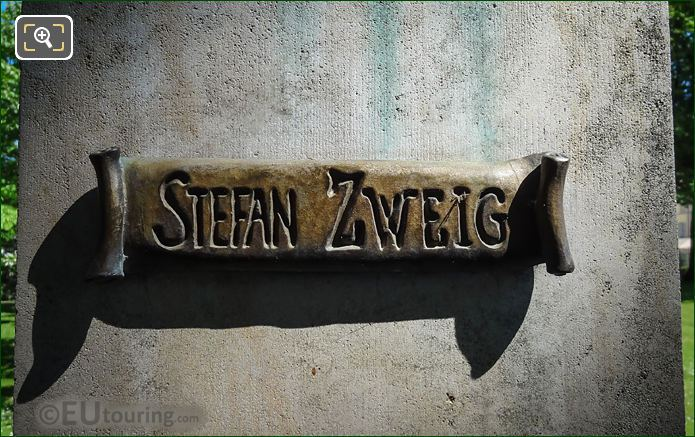 Name Inscription On Stefan Zweig Monument