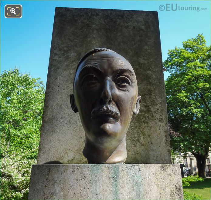 Bronze Bust On Stefan Zweig Monument