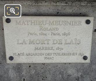 Tourist Information Plaque Mort De Lais Statue