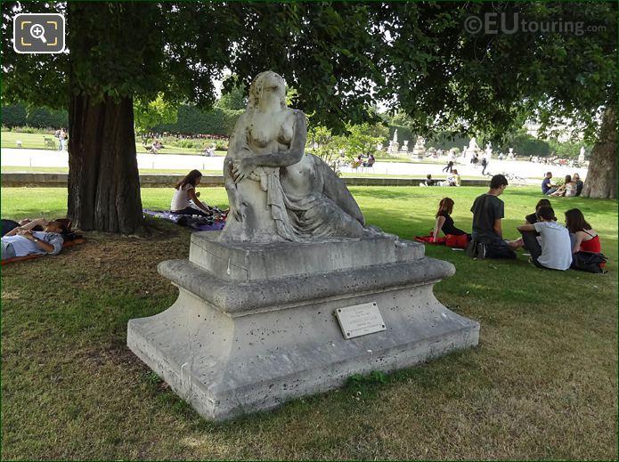 Mort De Lais Statue And Pedestal Tuileries Garden