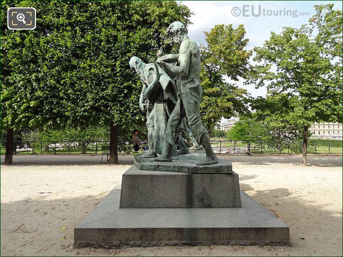 LHS Of Les Fils De Cain Statue Group