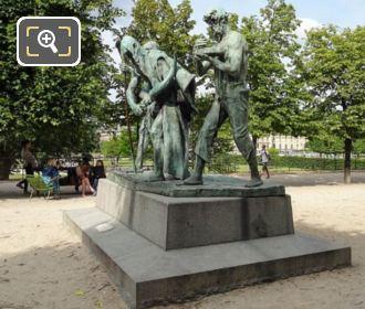 Front And LH Sides Of Les Fils De Cain Statues