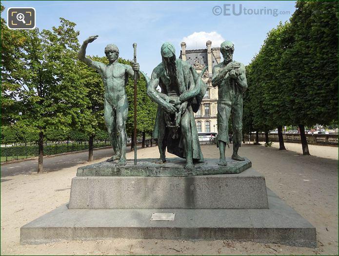 Les Fils De Cain Statue In Jardin Des Tuileries