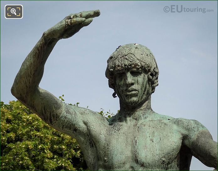 Bronze Arm, Face Of Jabal Statue