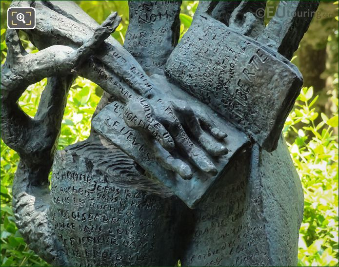 Sculpted Hand On Le Poete Statue