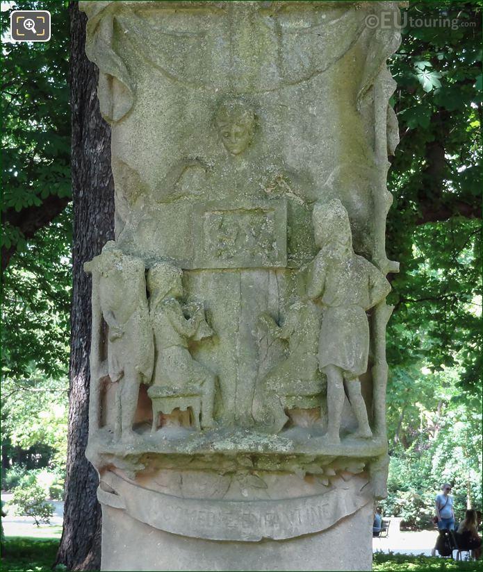 Pedestal Stone Carving On Louis Ratisbonne Monument