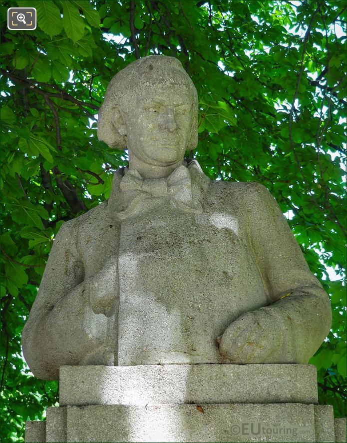 Stone Bust Of Charles Baudelaire