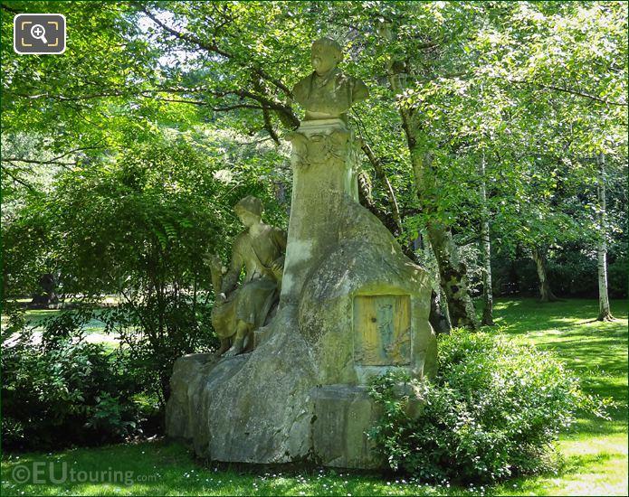 Ferdinand Fabre Monument Jardin Du Luxembourg