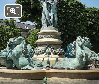 Horse Statues Fontaine Des Quatre Parties Du Monde