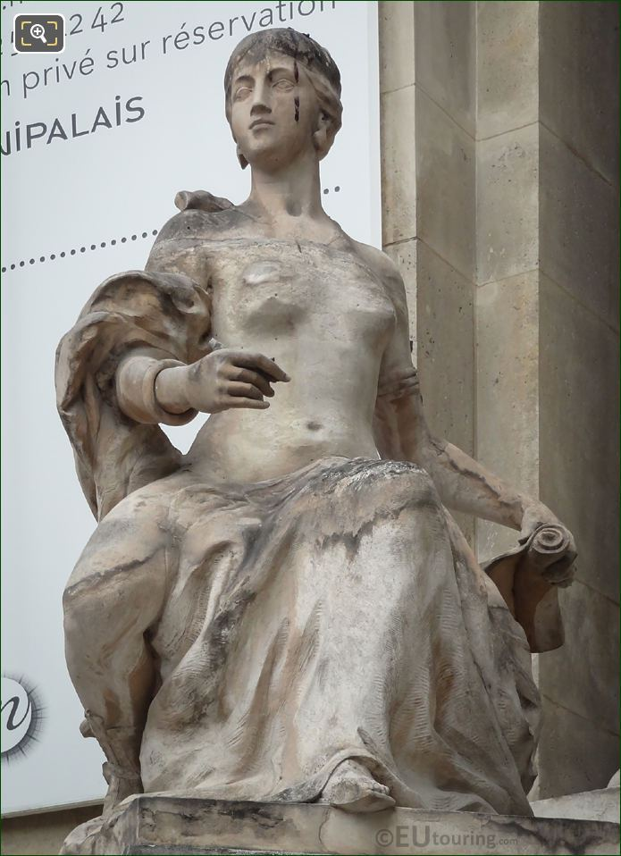 l'Art Decoratif Statue By Emile Rene Lafont