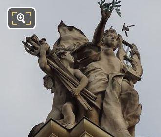 RHS La Paix Statue On Grand Palais