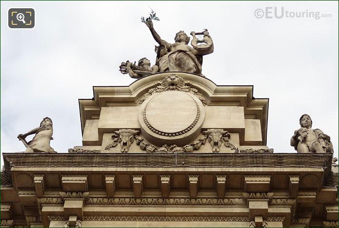 View Up La Paix Statue Grand Palais Paris