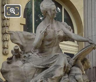 Allegorical Statue L'Art Du XVIIIe Siecle