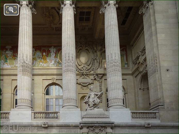 Grand Palais East Facade With L'Art Contemporain Statue