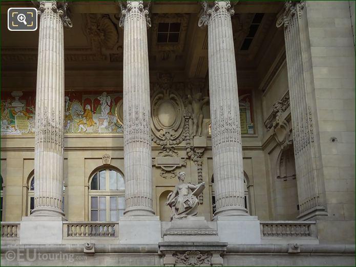 Grand Palais East Facade With L'Art Contemporain Statue