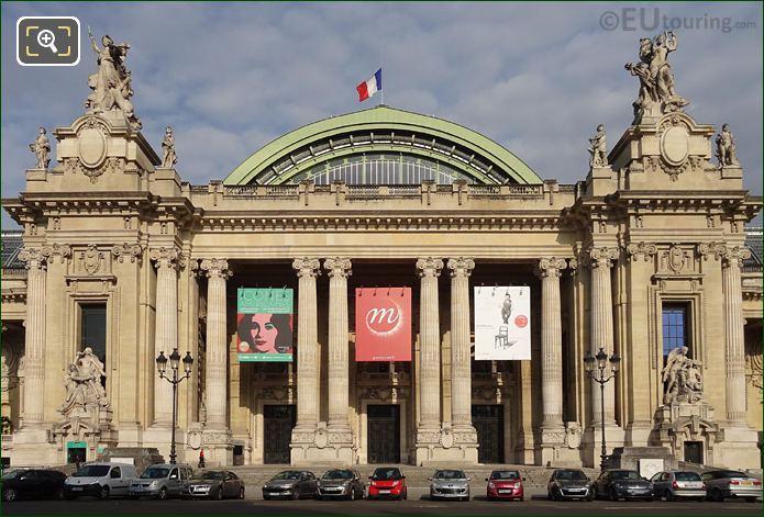 East Facade Grand Palais La Paix Statue