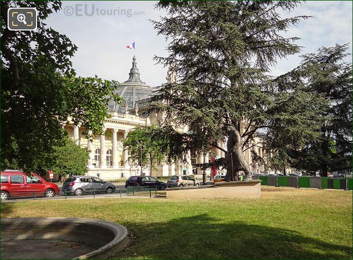Petit Palais SW Corner With Winston Churchill Statue