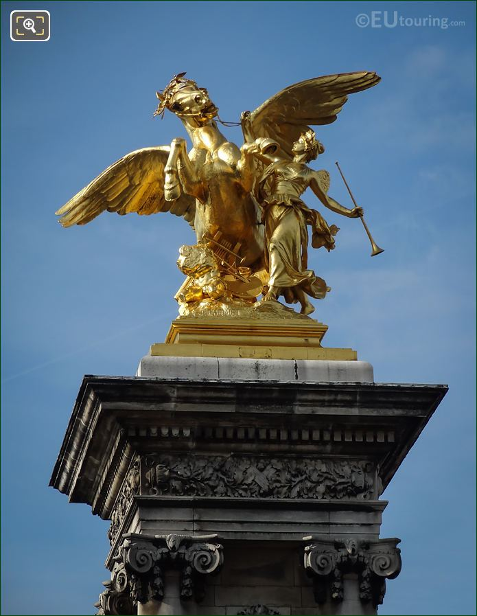 Pont Alexandre III Statue Fame Of The Arts