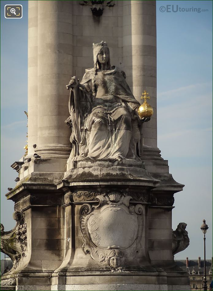 Charlemagne Of France On Pont Alexandre III