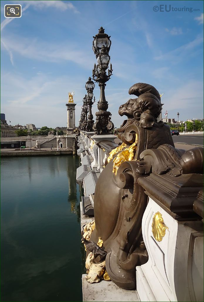 Lamp Posts On Pont Alexandre III Eastern Side