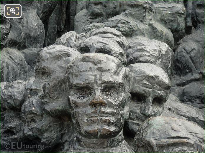 Bronze Faces On La Foule Sculpture