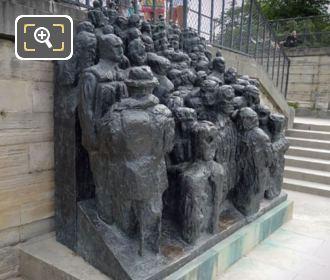 Bronze Statue La Foule In Jardin Des Tuileries