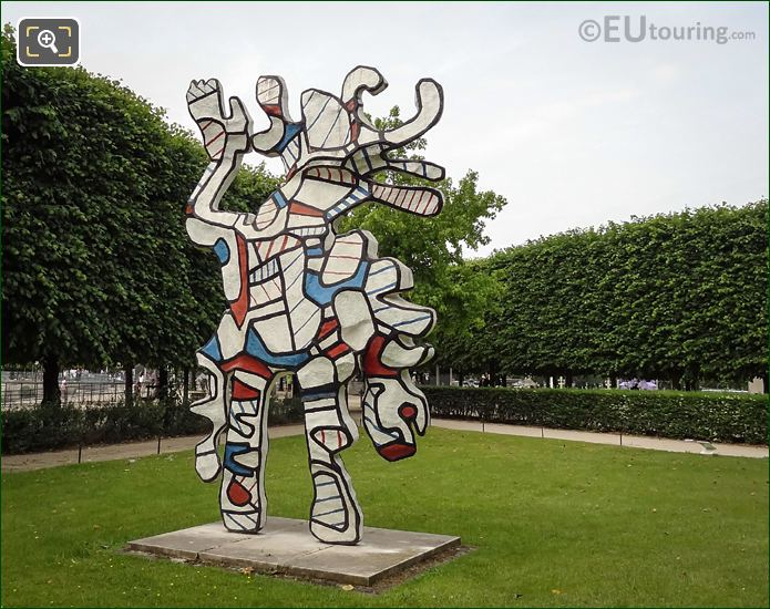 Contemporary Art Statue Le Bel Costume By J Dubuffet