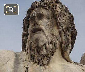 River God Statue In Jardin Des Tuileries