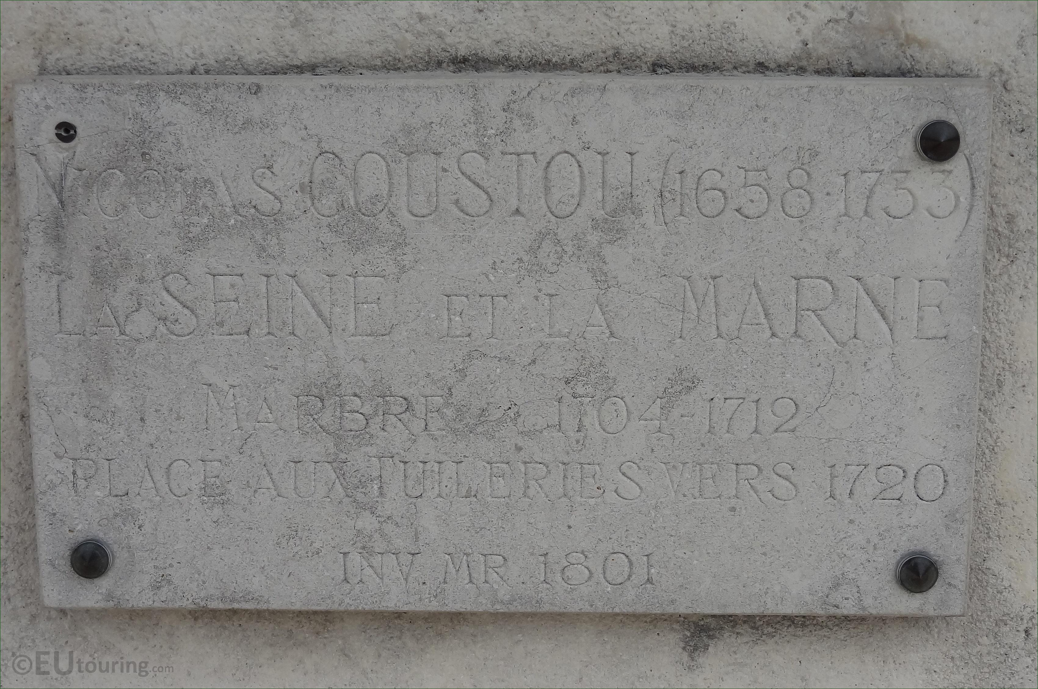 La seine et la marne statue in tuileries gardens paris - Vide greniers seine et marne ...