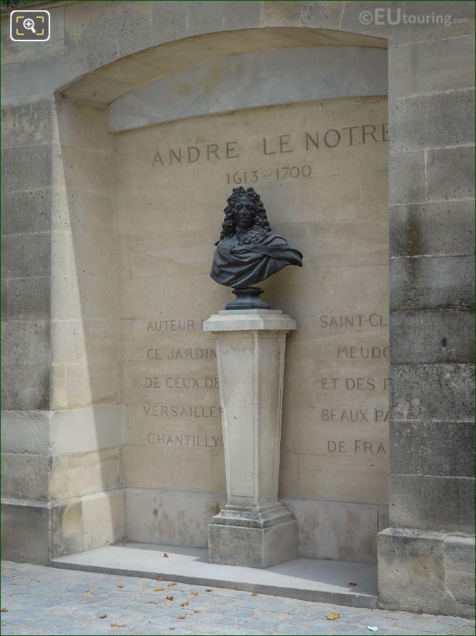 Jardin Des Tuileries Andre Le Notre Statue
