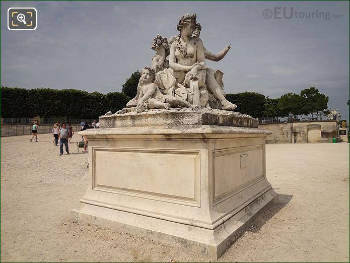 Jardin Tuileries Statue La Loire Et Le Loiret