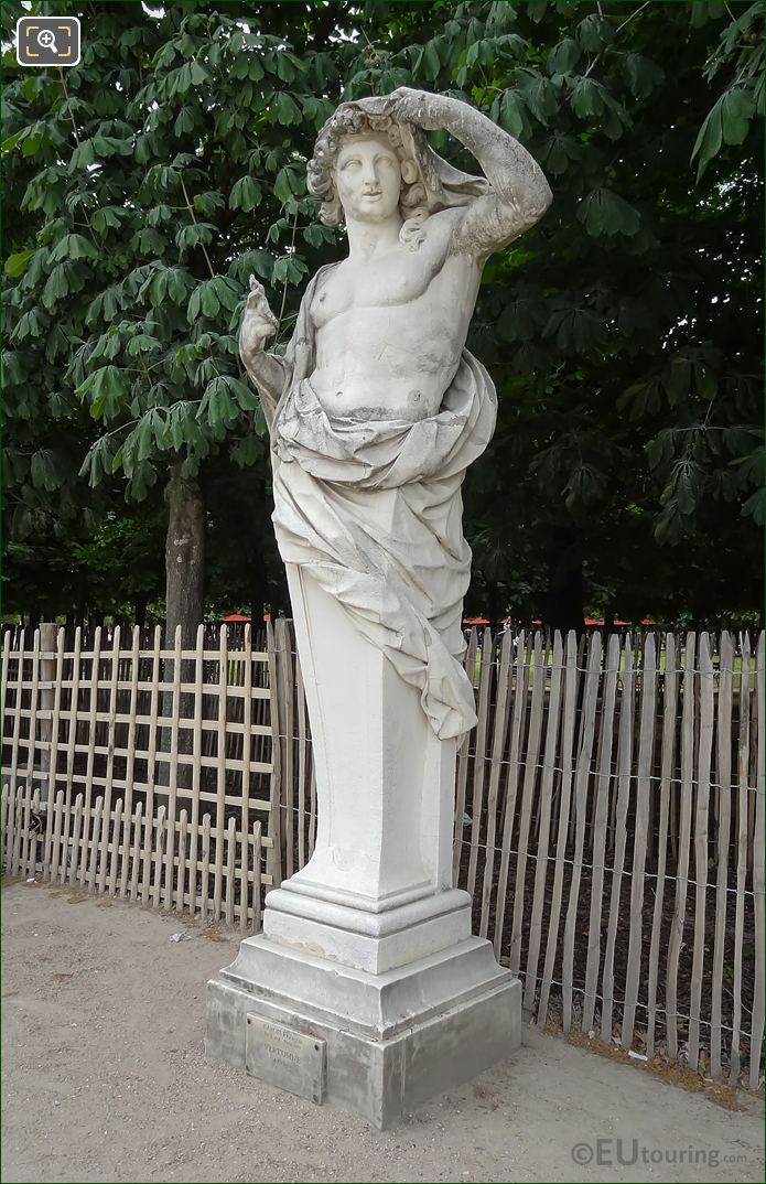 Tuileries Gardens God Of The Seasons Statue Vertumne