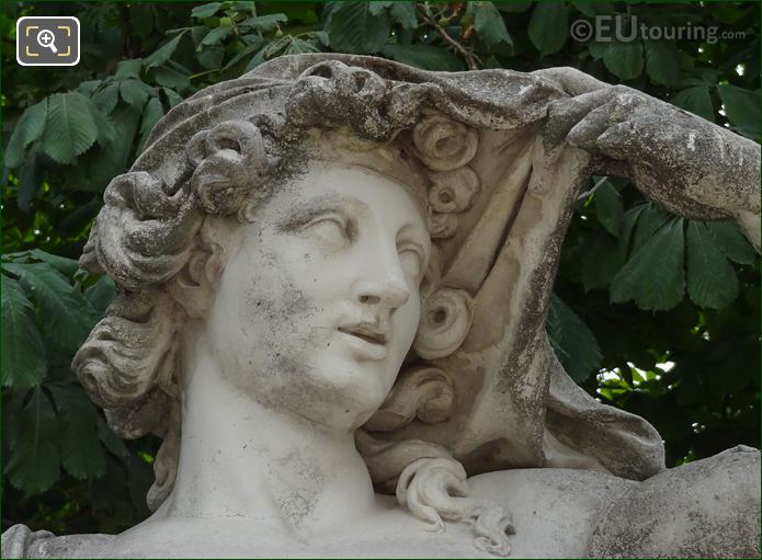 Sculpted Face Of Vertumne Staue By F Barois