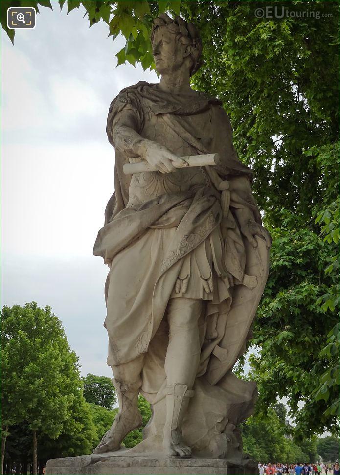 Front View Of The Julius Caesar Statue