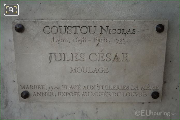 Date And Name Plaque On Julius Caesar Statue