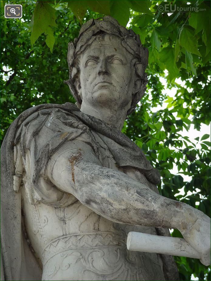 View Of Head On The Julius Caesar Statue