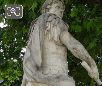 Side View Of The Julius Caesar Statue