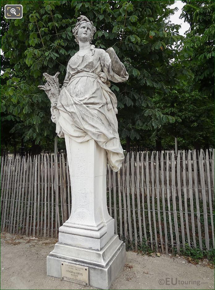 Ceres Statue By Sculptor Guillaume Coustou