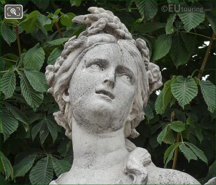 Head Of The Goddess Of Agriculture Statue Ceres