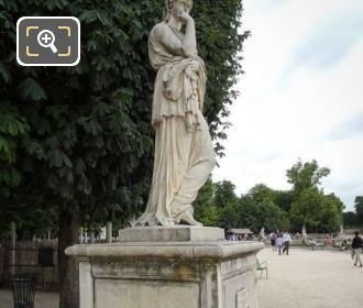 Tuileries Gardens Veturia Statue Sculpted 1695