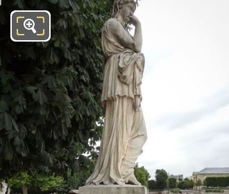 RHS View Of Marble Veturie Statue