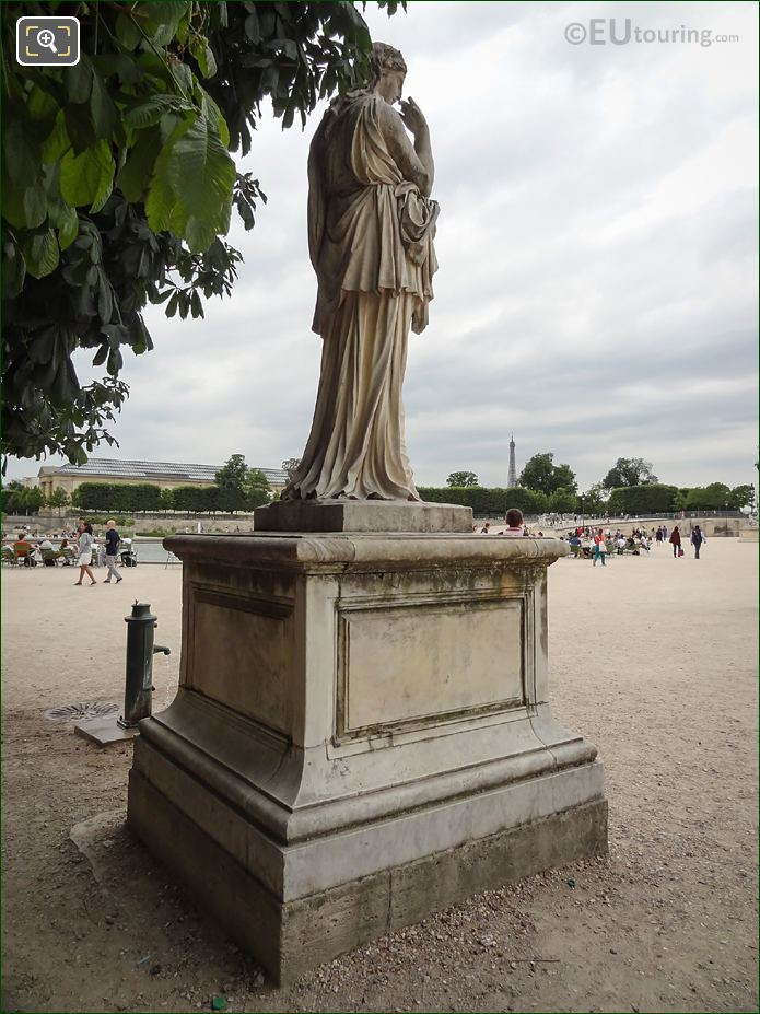 Marble Statue Of Veturie On Pedestal In Tuileries Gardens