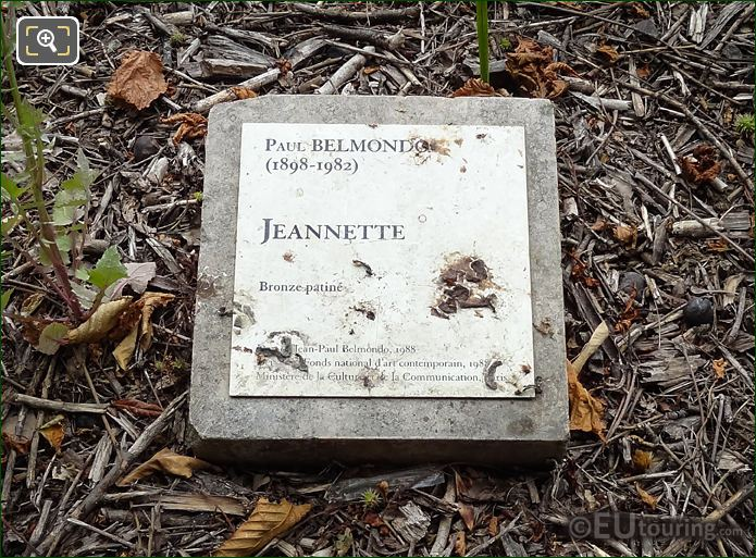 Information Plaque For Jeanette Statue