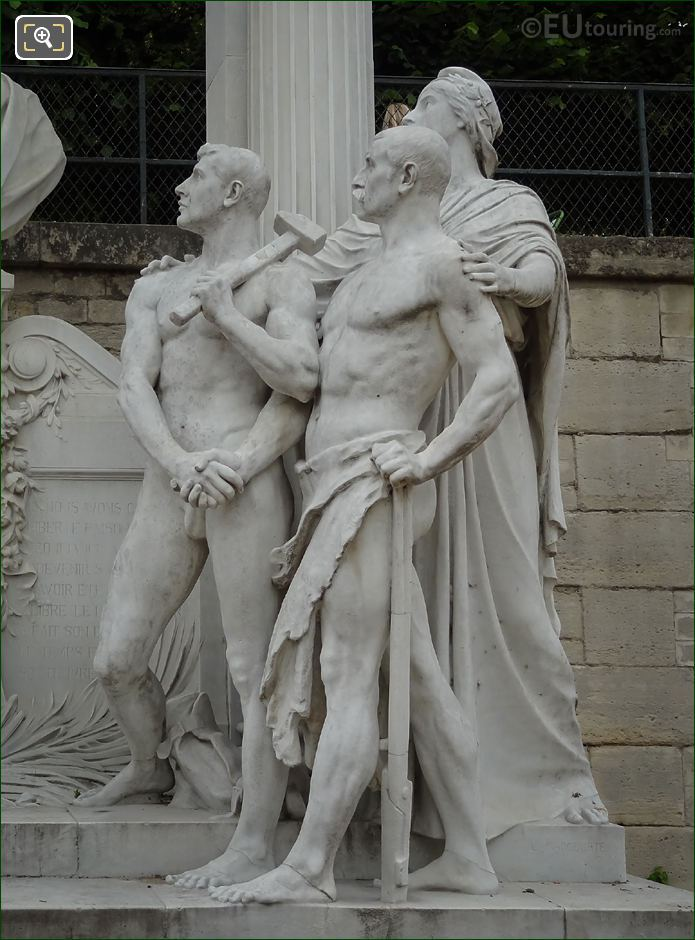 Marble Statues On Waldeck-Rousseau Monument
