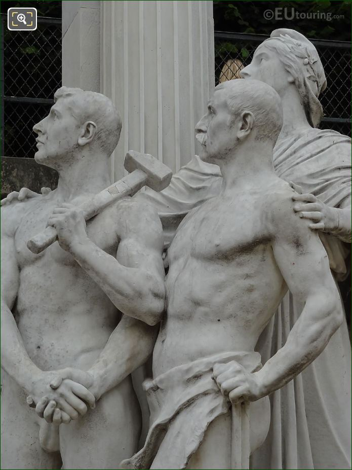 Monument To Waldeck-Rousseau Marble Statues