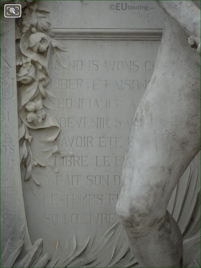 Monument To Waldeck-Rousseau RHS Inscription Front