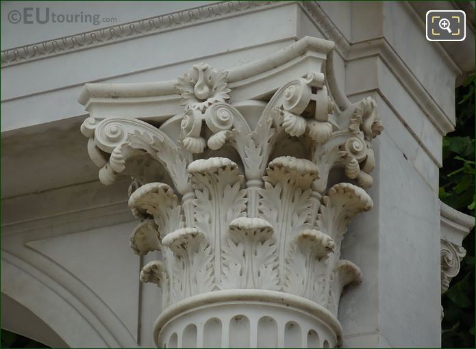 Ornate Column Detailing On Waldeck-Rousseau Monument