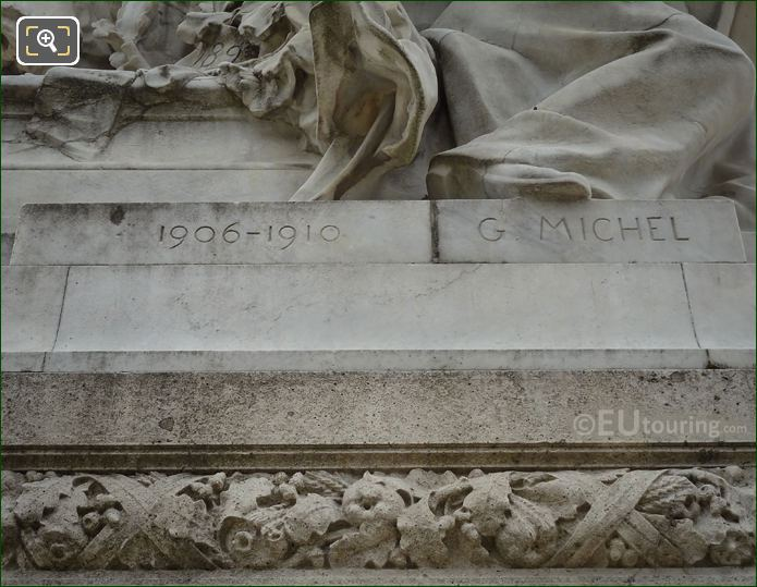 Year 1906-1910 Inscription On Jules Ferry Monument
