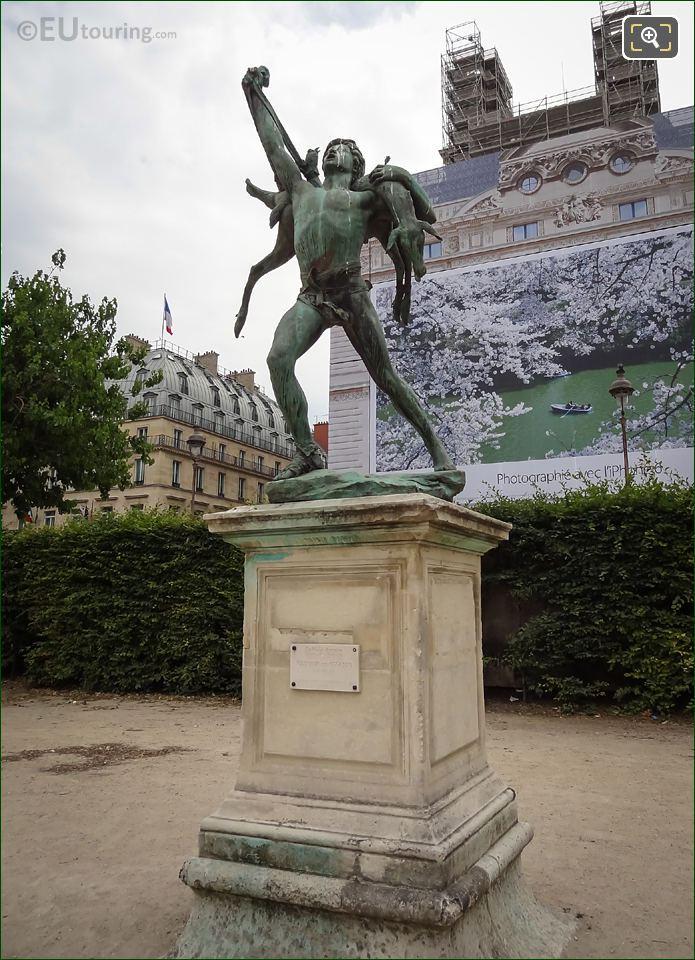 Front Of The Retour De Chasse Statue In Jardin Des Tuileries