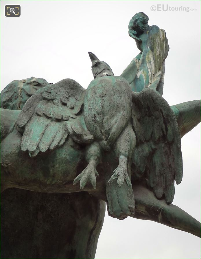Bronze Bird On Retour De Chasse Statue